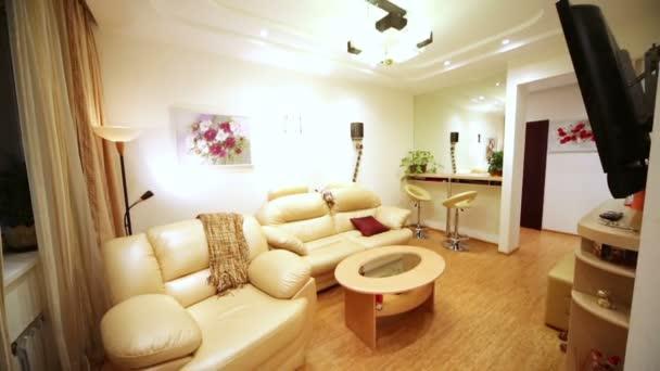 Interior of room in modern flat