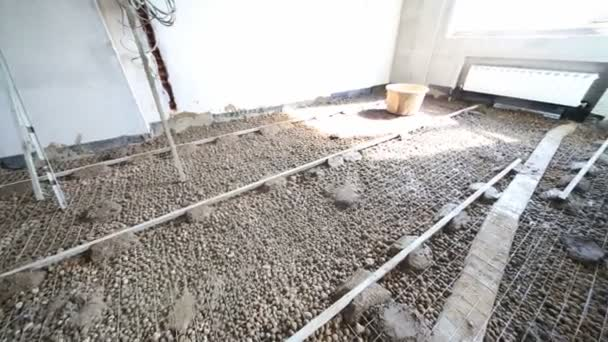 Armatur Fur Giessen Betonboden Im Zimmer Stockvideo C Paha L 104092332
