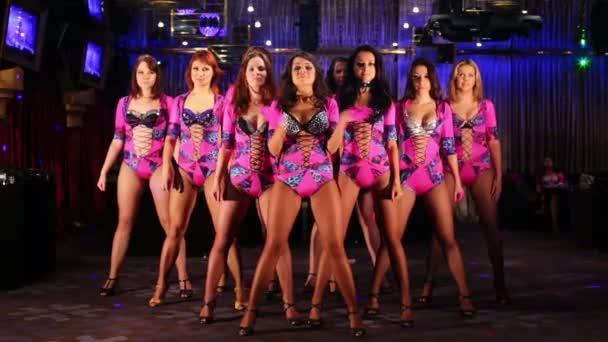 Ten beautiful showgirls