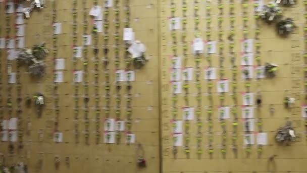 Wall with many rows of keys