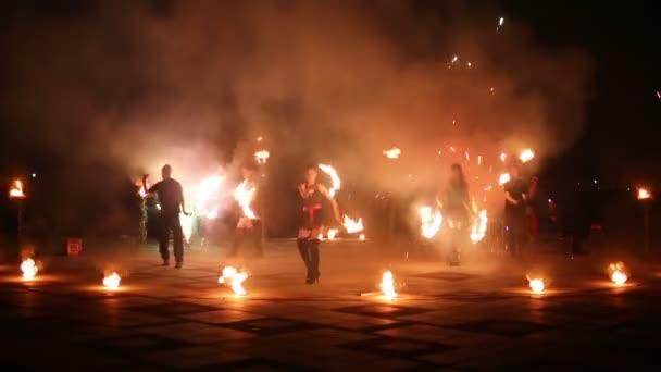 evening fire show