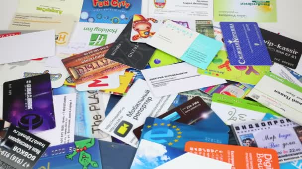 pile of business cards