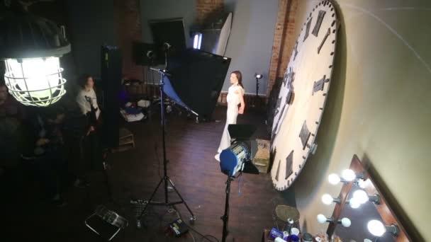 Shooting video clip with Eugeniya Vershanskaya