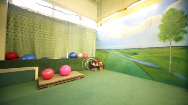 room for sport with exercise equipment