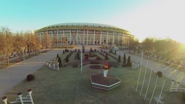 Náměstí v blízkosti fotbalového stadionu