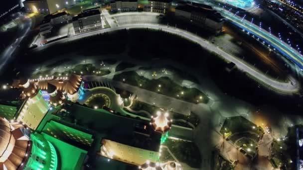 Barevné osvětlení hotelu bogatyr