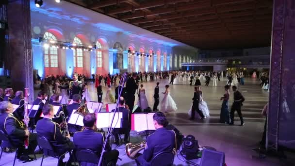 Orchestra playing for pairs on Cadet Ball