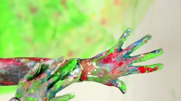 Female painted  hands