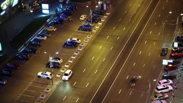 noční cesta s automobilové dopravy