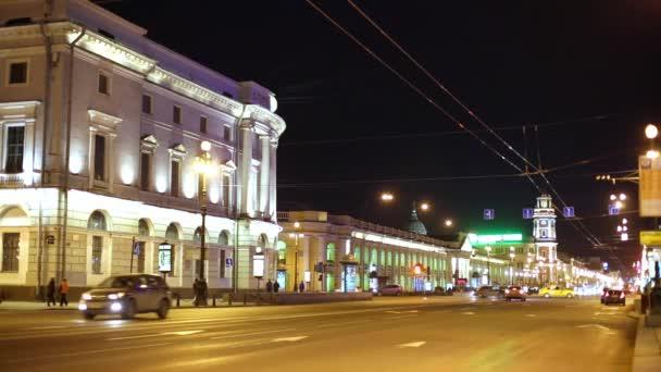 A Nevsky Prospect éjjel.