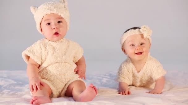 Two cute babies