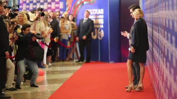 Dima Bilan and Yana Rudkovskaja on Red carpet