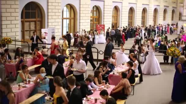 People in canteen at 11th Viennese Ball in Gostiny Dvor