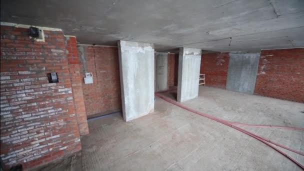 Apartment with concrete ceiling in building under construction