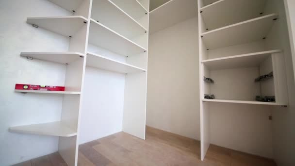 Partly assembled slide wardrobe