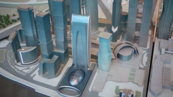 Malý model mrakodrapů města Moskva