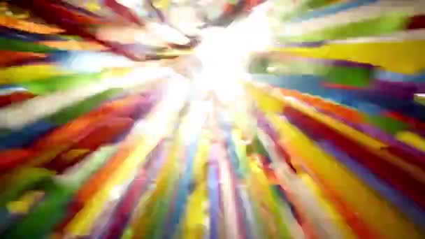 Chaotic motion through multicolored ribbons