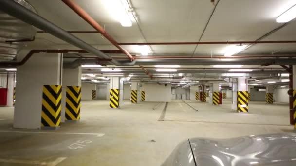 Movement of car on underground parking