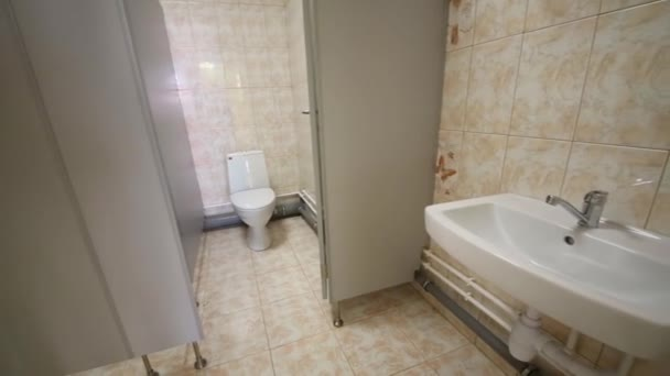 New lavatory with tiling, toilet