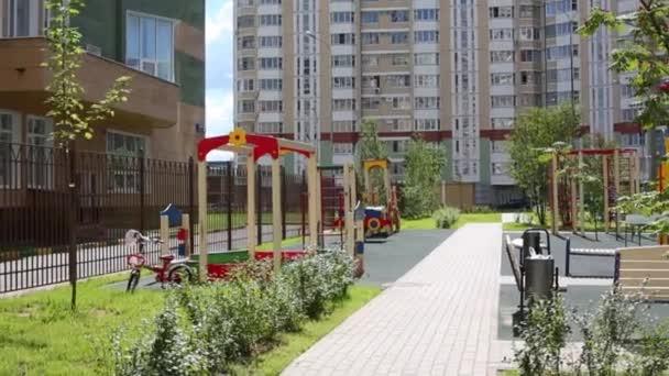 Playground near high residential buildings