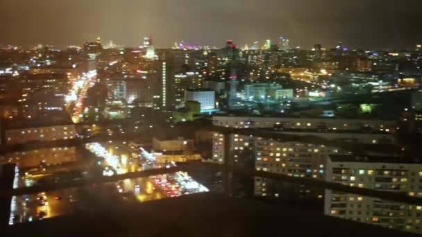 Panorama z Moskvy přes okno