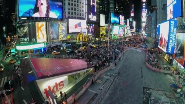Times Square with car traffic