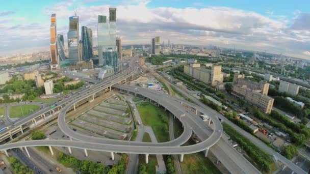 Megalopolis with traffic on flyover