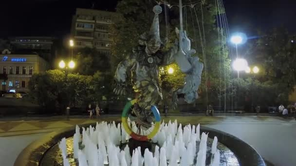 fountain-monument Clowns at summer