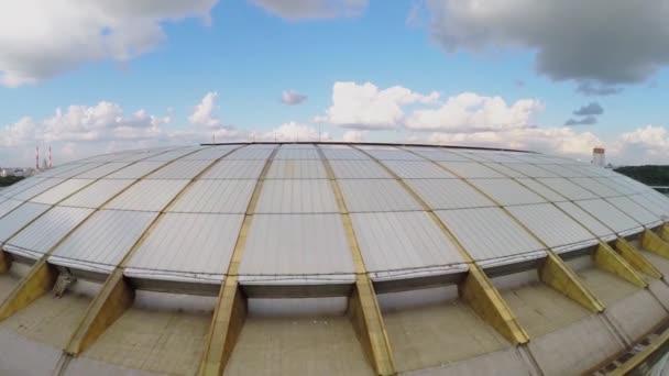 Fotbalový stadion Lužniki ve výstavbě