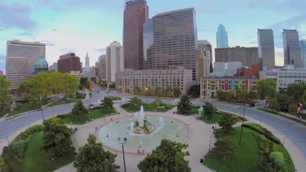 Logan Square mit Swann Brunnen in Philadelphia