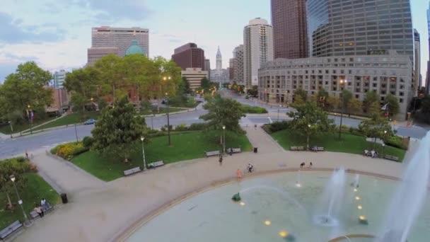 Logan Square mit den Menschen in Philadelphia