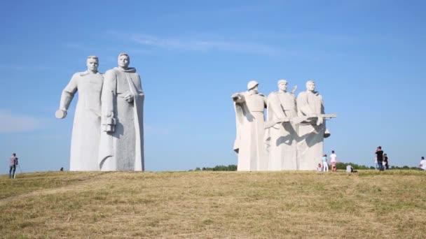 Part of military memorial complex Panfilov Heroes