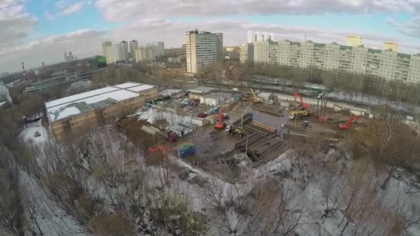 Construction site of residential complex Yauza