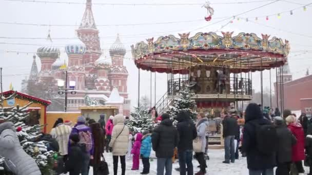 People walking at Christmas Fair