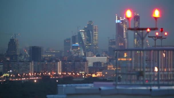 výhledem na noční Panorama