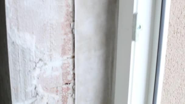 Montáž nového rámu okna