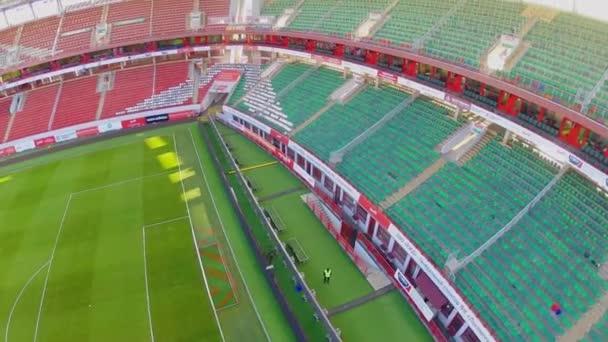 Panorama of soccer stadium Locomotive
