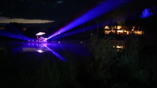 Laser show on lake