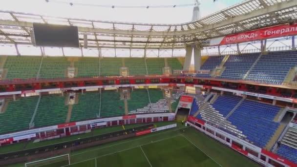 Sun shines above Locomotive soccer stadium