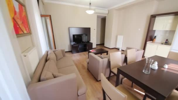 Obývací pokoj v bytě v Gorki Gorod