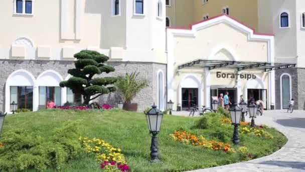 Entrance of Hotel Bogatyr