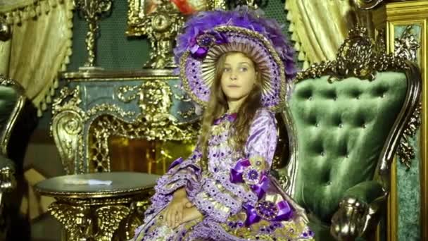 Little girl in old-fashioned dress