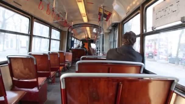 Pohled z salon veřejné dopravy