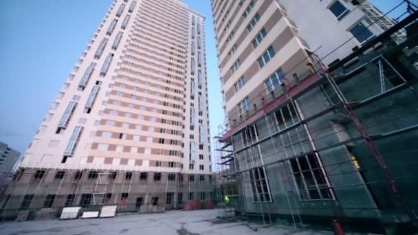 Staveniště vysoký obytný domů