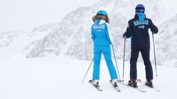 Skifahrer am Hang