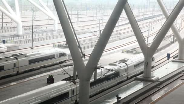 High-speed train stops