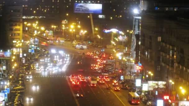 Traffic on Kutuzovsky intersection
