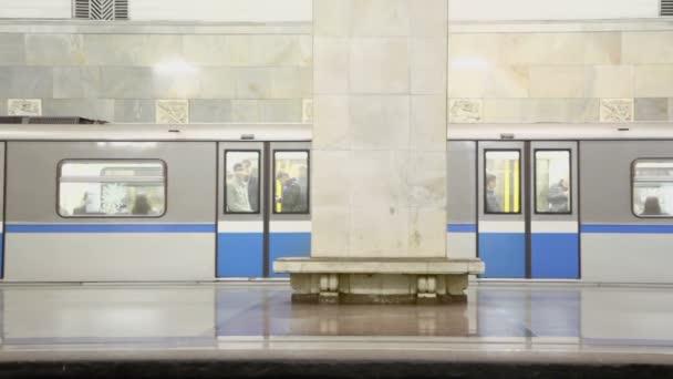Doors close and train ride away