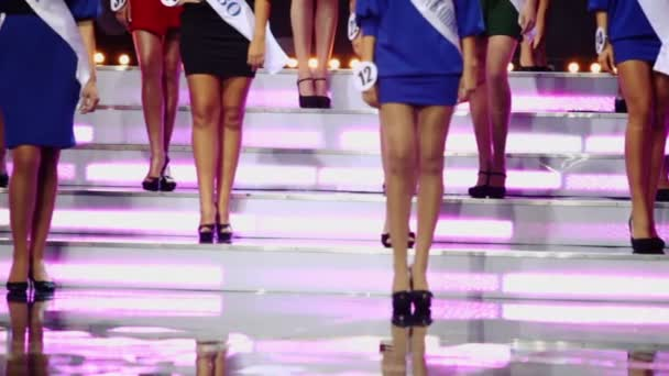 Girls contestants of beauty queen competition