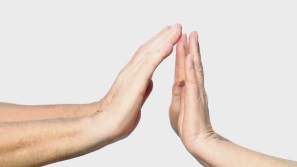 Nő és férfi kezét Térkép palm gesztus